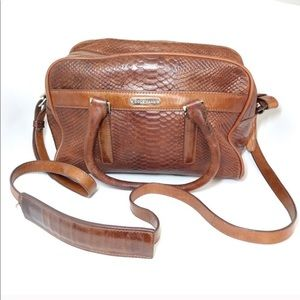 Cole Haan Vintage Purse Brown Leather Reptile